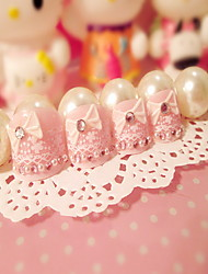 Manicure Finished Nail Patch Princess Foot Nails Nail Powder Manicure Tablets 24