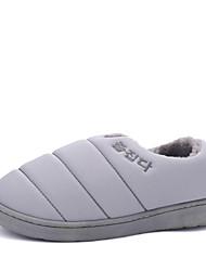 Unissex-Mocassins e Slip-Ons-Conforto-Rasteiro-Azul / Marrom / Rosa / Roxo / Cinza / Caqui / Coral-Flanelado-Casual