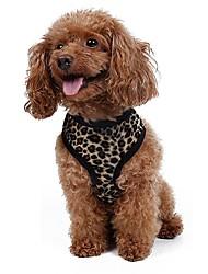 Gatos / Cães Arreios / Trelas Retratável / Fantasias / Respirável / Segurança / Macio / Corrida / Colete / Casual Leopardo / ZebraBranco