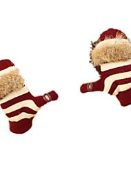 теплые перчатки (красный)
