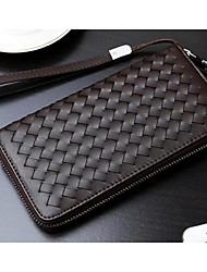 Men Other Leather Type Casual Clutch