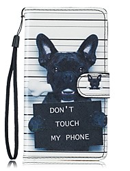 For Samsung Galaxy S7 Edge Case Dog PU Leather Wallet S5 S6 S7