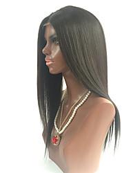 7a des brasilianischen reinen Haares glueless volle Spitze-Menschenhaarperücken gerade Spitze-Frontperücken mit dem Babyhaar für schwarze