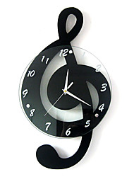 Moderno/Contemporâneo Casas Relógio de parede,Outros Vido / Madeira 29*52cm Interior Relógio