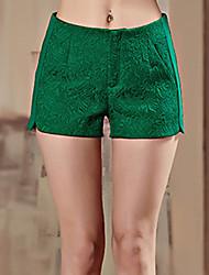 Pantalon Aux femmes Short Sophistiqué Polyester / Spandex Non Elastique