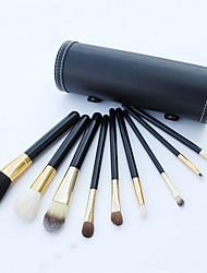 9 Conjuntos de pincel Escova de Cabelo de Cabra Profissional / Portátil Madeira Rosto / Olhos / Lábio Outros
