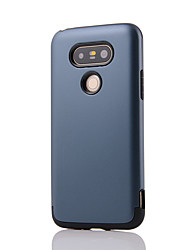 Para Antichoque Capinha Capa Traseira Capinha Cor Única Rígida PC para LG LG K10 LG K5 LG G5 LG G4 LG G3