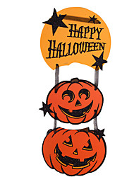 1PC The Haunted House Bar Scene Props Halloween Pumpkins Skeleton Garland Decoration Supplies Number Tags