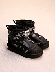 Girl's Boots Comfort Leatherette Casual Black Blue