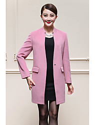 Sign # 8566 2016 New Autumn new coat Girls long woolen double-sided wool cashmere coat