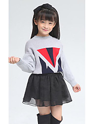 Girl's Casual/Daily Solid Clothing SetWool Winter / Spring / Fall Gray