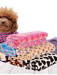 Cat / Dog Bed Pet Covers Soft Black / Blue / Brown / Pink / Beige Plush