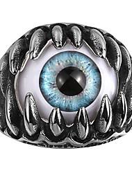 Ringe Kubikzirkonia Totenkopfform Halloween Hochzeit Party Alltag Normal Sport Schmuck Stahl Herren Ring 1 Stück,8 9 10 11 Silber
