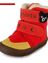 Girl's Flats Winter Others Fur Outdoor Black Yellow Pink Red