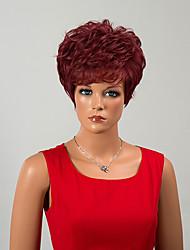 courte capless gracieuse perruques de cheveux humains onduleux naturel