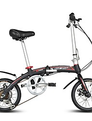 Folding Bike Cycling 6 Speed 14 Inch SHIMANO RS-35 Double Disc Brake Fixed Aluminium Alloy Frame Folding Folding Aluminium Alloy