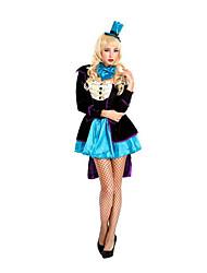 Fest/Feiertage Halloween Kostüme Schwarz einfarbig Mantel / Rock / Mützen / Mehre Accessoires Halloween / Weihnachten / Karneval Frau