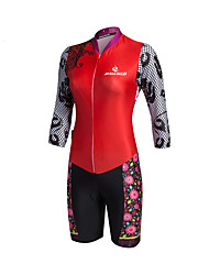 Malciklo Ropa Ciclismo Mujeres Bora Cycling Jersey Long Sleeve Flower Patterns Mtb Cycling Triathlon Skinsuit Mountain Cycling Clothing