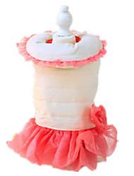 Chien Robe Rouge / Orange / Violet Vêtements pour Chien Hiver / Printemps/Automne Couleur Pleine Garder au chaud