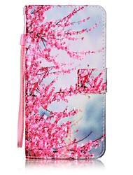 Pour Portefeuille / Porte Carte / Avec Support / Clapet / Motif Coque Coque Intégrale Coque Fleur Dur Cuir PU pour AsusAsus ZenFone 3