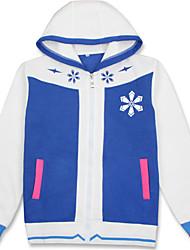 Ternos de Cosplay Inspirado por Vocaloid Snow Miku Anime Acessórios de Cosplay Camisa Preto Algodão Unissexo