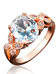 India Style Rose Gold Plating Statement Ring for Women