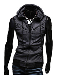 Short-Sleeved Sweater Zipper Leisure Men S Hooded Cardigan Jacket