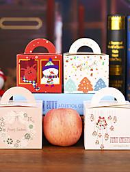 Random Color estilo 50 unids diy de dibujos animados de navidad ao nuevo caja de regalo caramelo lindo cajas de torta la vspera de navidad de apple