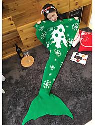 Christmas Mermaid Blanket Pattern Crochet Tail Blanket Adult Child bed Soft Sleeping Yarn Knitted Santa Claus 140*70