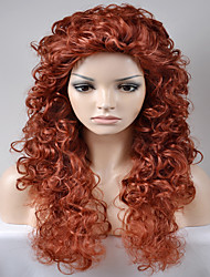 Europe and the United States Women PARTY Wine Red Kinky Curly Afro High Temperature Wire Wig