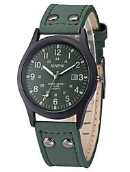 XINEW Men Calendar Quartz Watch Mens PU Leather Band Fashion Casual Clock Wristwatch
