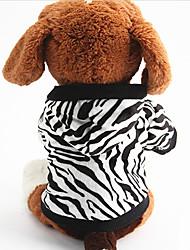 Dog Costume Hoodie Dog Clothes Cosplay Zebra Black