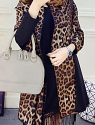Women Faux Fur Scarf,Casual RectangleLeopard