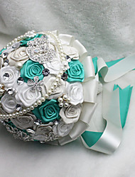 Fleurs de mariage Rond Roses Bouquets La Fête / soirée Satin Env.23cm