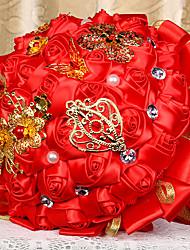 Fleurs de mariage Rond Roses Bouquets La Fête / soirée Satin 50cm