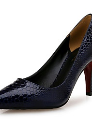 Women's Heels Others Leather Other Animal Skin Office & Career Dress Casual Party & Evening Stiletto Heel Others Royal Blue