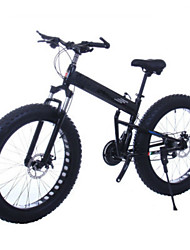 Mountain Bike Folding Bike Cycling 21 Speed 26 Inch/700CC 40mm Unisex Adult Double Disc Brake Suspension ForkRear Suspension Aluminium