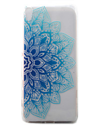 For Sony Xperia XA Case Cover Blue Half Flowers Pattern Painted TPU Material Phone Case