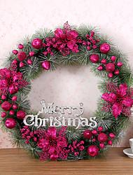 1 pc agulhas guirlanda de Natal de pinheiros decoração do Natal por 60 centímetros casa partido diâmetro navidad novos suprimentos ano
