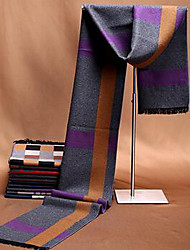 Men Silk Scarf,Casual RectangleGeometric