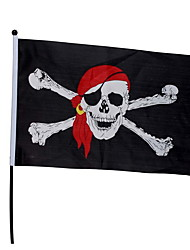 Halloween Bar Decorated Skeleton Flagstick Flags Flag Of The Caribbean Pirate