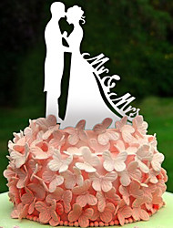The bride and groom acrylic wedding cake inserted fine decoration brand