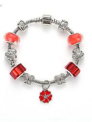 Fashion Simple Women DIY Jewelry Beaded Glass Beads Europe Charm Bracelet