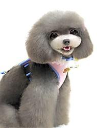 Gatos / Cães Arreios / Trelas Segurança / Macio / Corrida / Colete / Casual Sólido / Personagens Verde / Rosa / Amarelo Tecido
