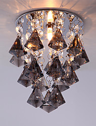 Smoke Grey Color Diamond Crystal Ceiling Light for Balcony