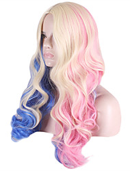 Long Body Wave Side Bang Synthetic Wigs Cosplay Heat Resistant Cosplay Wig
