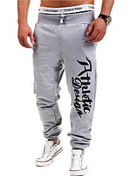 Hommes Droite Chino Pantalon,Actif Décontracté / Quotidien Lettre Taille Normale Cordon Polyester Micro-élastique All Seasons