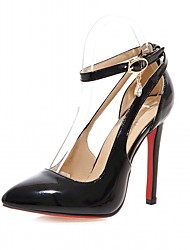 Women's Heels Spring Fall Leatherette Office & Career Casual Dress Stiletto Heel Black Red Blushing Pink