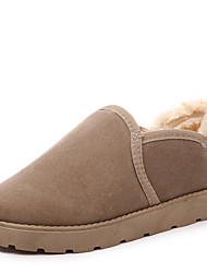 Women's Boots Winter Comfort Leatherette Casual Flat Heel Black Yellow Beige