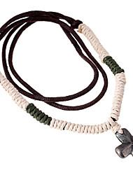 Necklace Non Stone Jewelry Casual Unique Design Alloy Men 1pc Gift Black